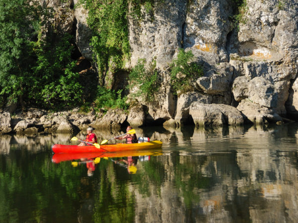 Canoeing on the Ardèche
