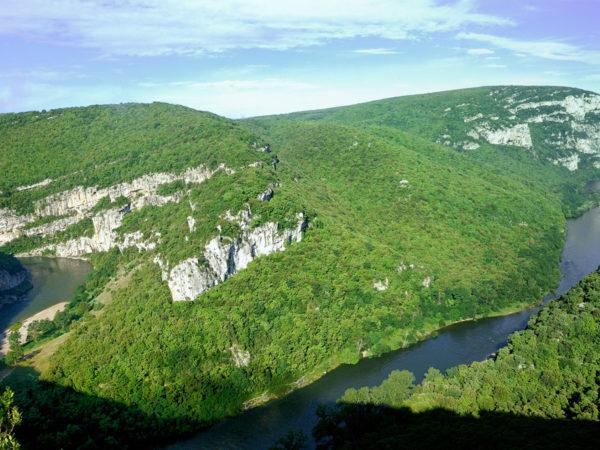 De rivierengten van de Ardèche